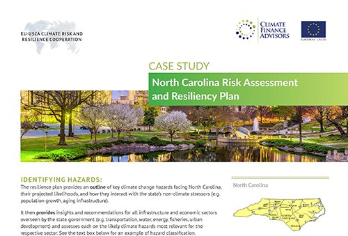 Case Study - North Carolina Risk Assessment and Resiliency Plan