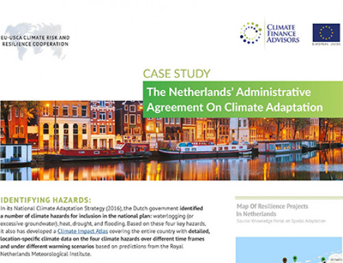 The Netherlands' Administrative Agreement on Climate Adaptation