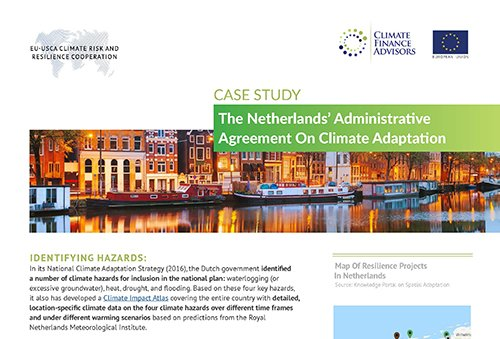 Case Study - The Netherlands' Administrative Agreement on Climate Adaptation