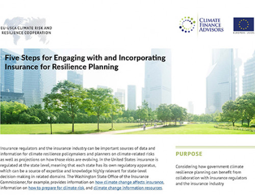Five Steps for Engaging with and Incorporating  Insurance for Resilience Planning
