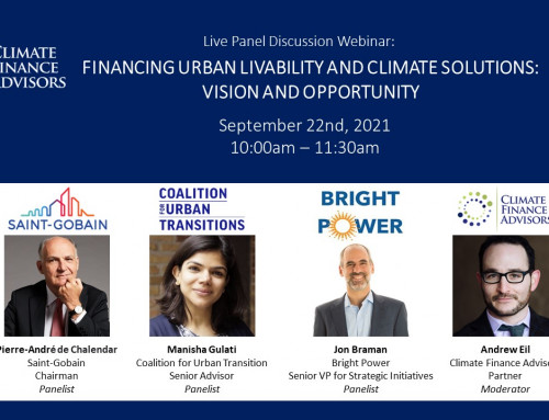 Financing Urban Livability and Climate Solutions: Vision and Opportunity