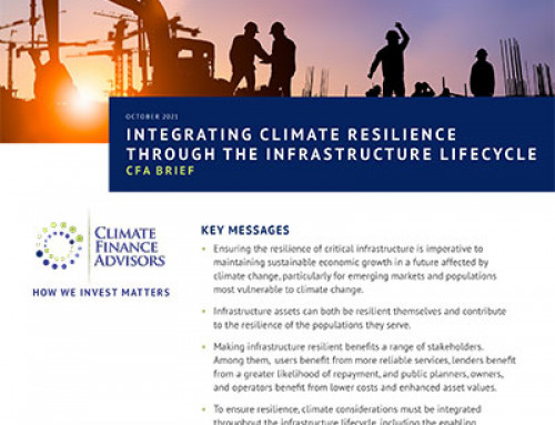 Integrating Climate Resilience through the Infrastructure Lifecycle
